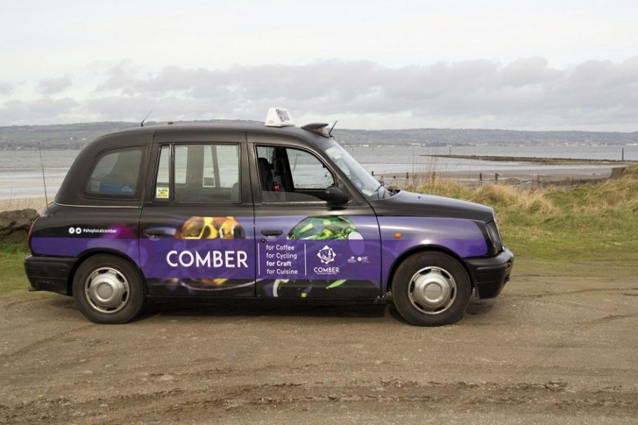 Taxis promote towns in Northern Ireland