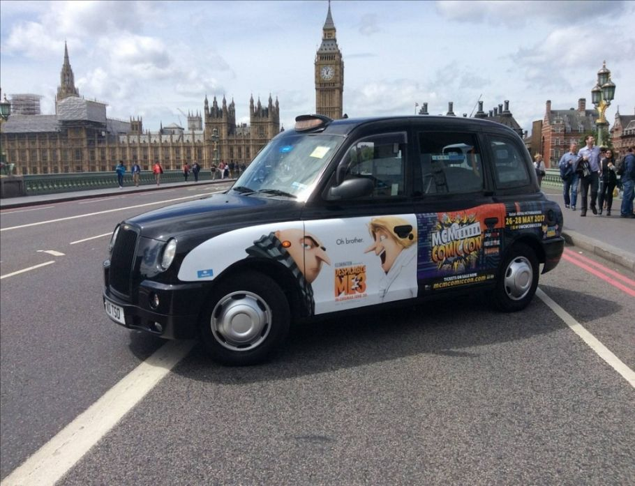 Taxis help promote Comic Con London