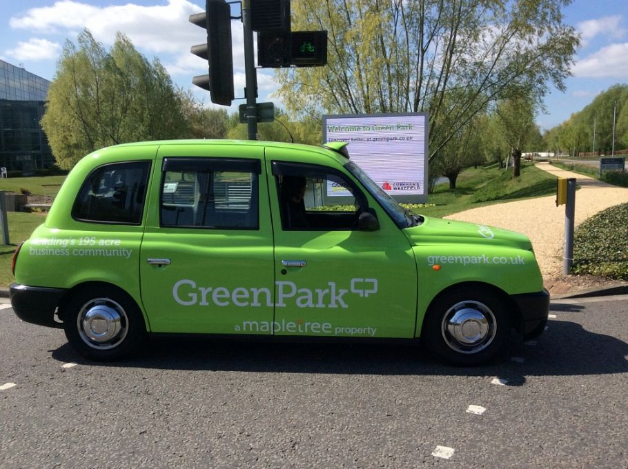 New taxi campaign for Green Park in Reading