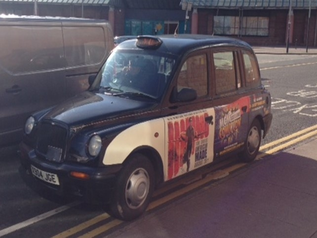 Taxis promoting MCM Comiccon Glasgow