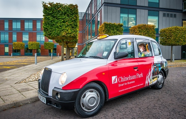 Refreshed taxi livery for Chineham Business Park, Basingstoke